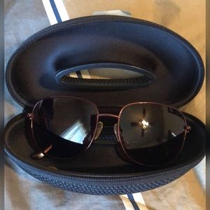 Judith Leiber Oversized bling sunglasses w/case